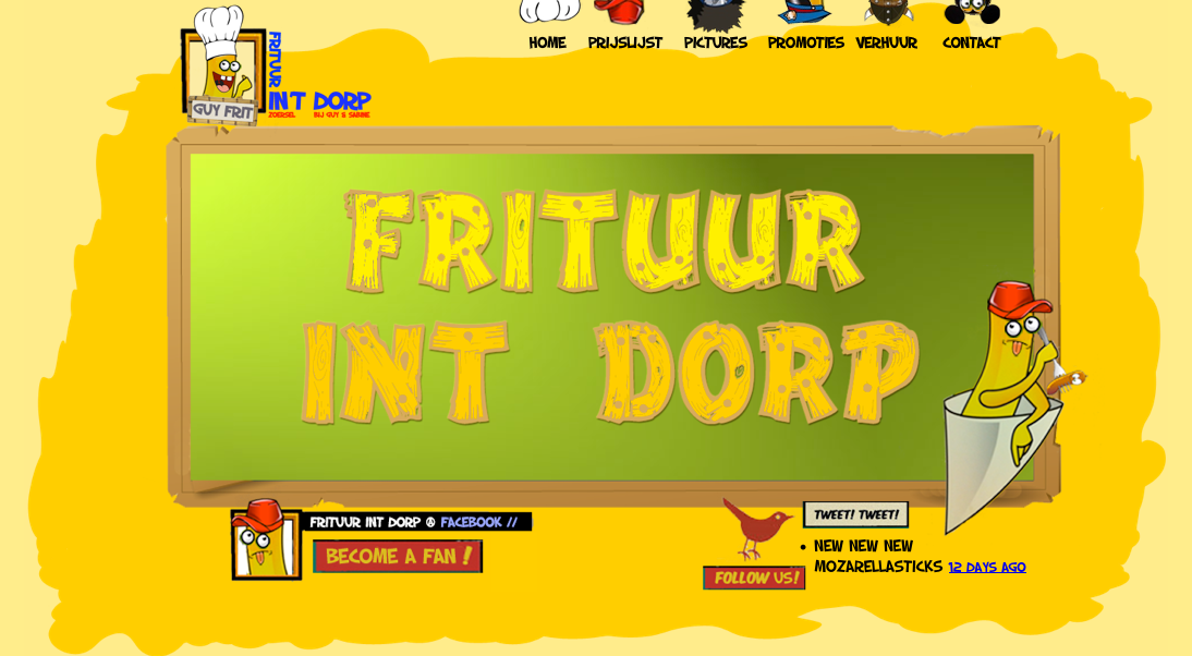 website Frituur in't Dorp