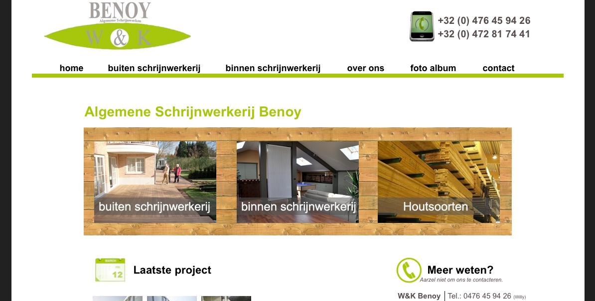 website schrijnwerkerijbenoy